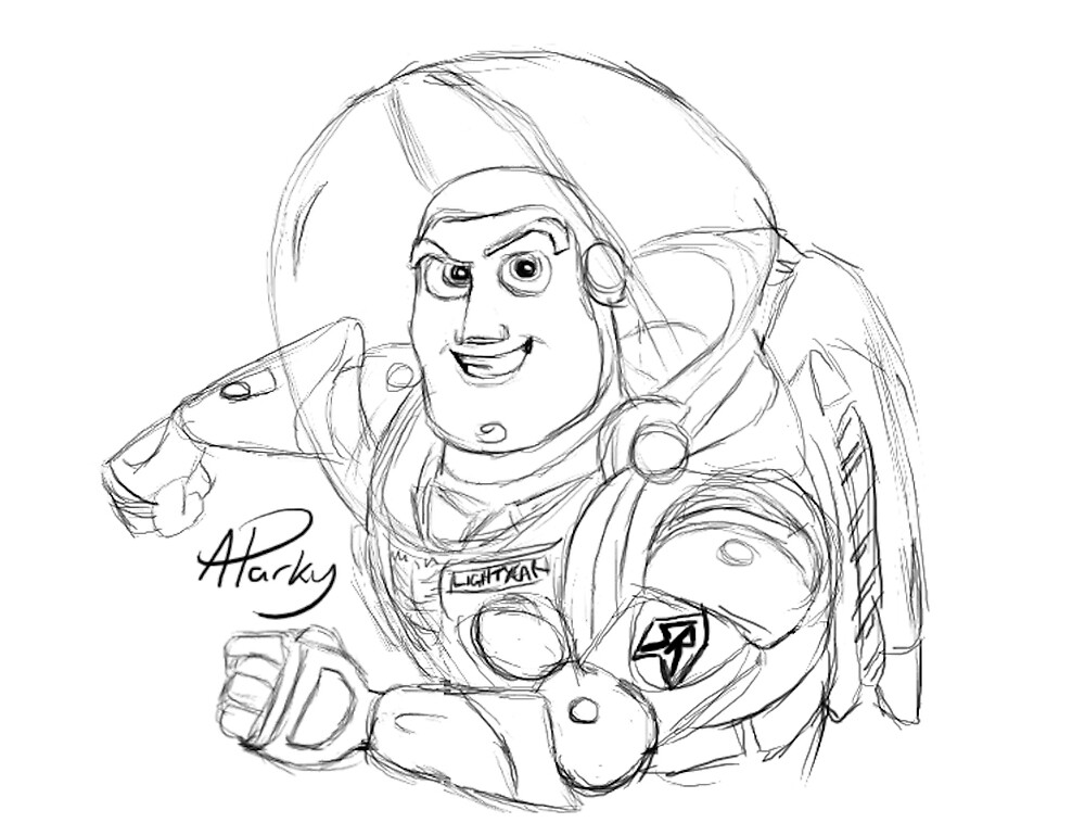 buzz lightyear sketch