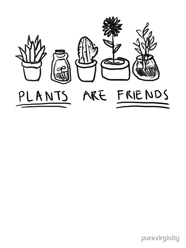 plants are friends stickers by purevirginity redbubble. Black Bedroom Furniture Sets. Home Design Ideas