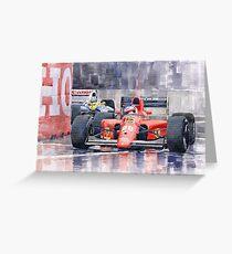 Ferrari F1 Jean Alesi Phoenix US GP Arizona 1991 Greeting Card