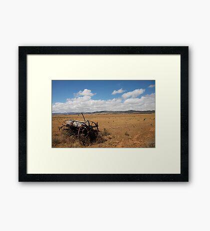 landscapes #169, steel wheels for planting  Framed Print