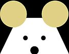 Peek-a-Boo Mouse, Black and Gold by Kendra Shedenhelm