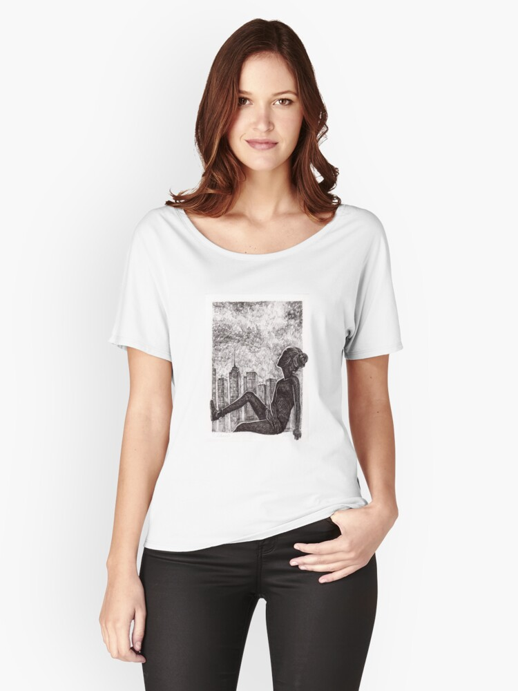 Night Women's Relaxed Fit T-Shirt Front