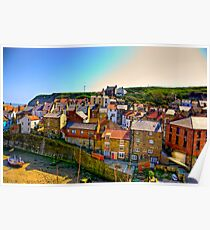 Staithes Fishing Village. Poster