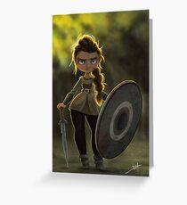 Viking Shieldmaiden Greeting Card