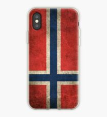 Old and Worn Distressed Vintage Flag of Norway iPhone Case