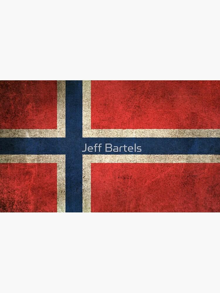 Old and Worn Distressed Vintage Flag of Norway von JeffBartels