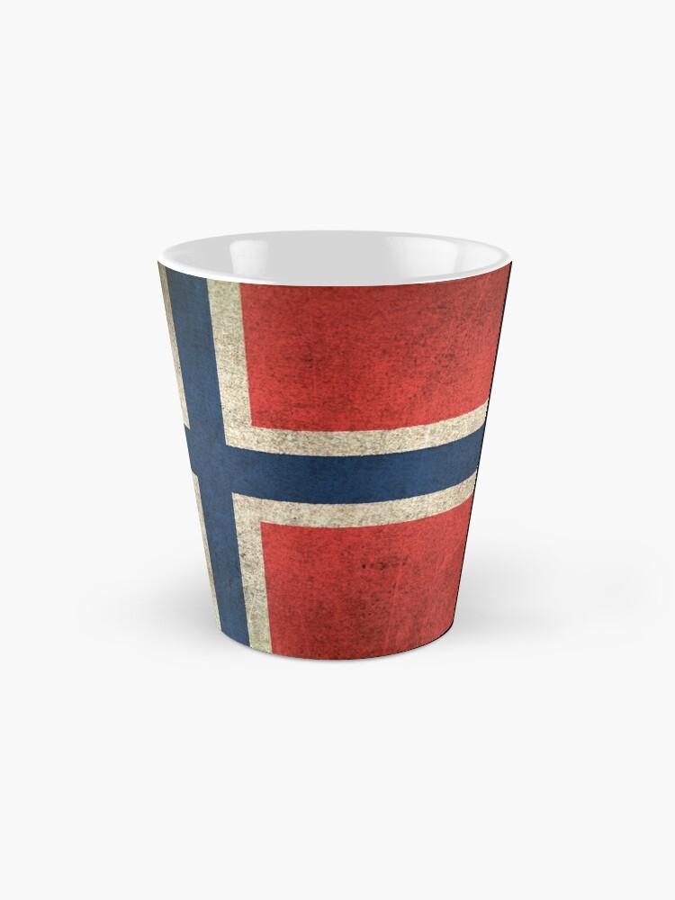 Alternative Ansicht von Old and Worn Distressed Vintage Flag of Norway Tasse
