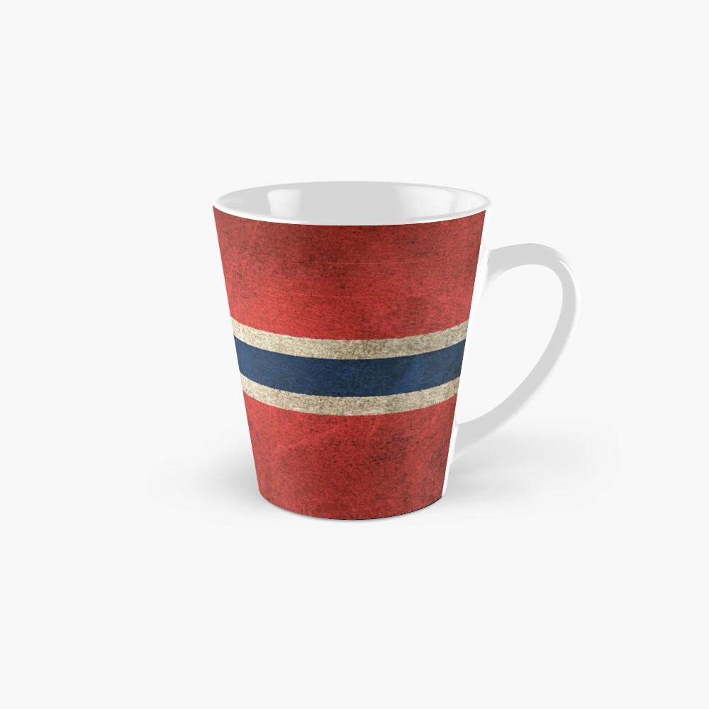 Old and Worn Distressed Vintage Flag of Norway Tasse