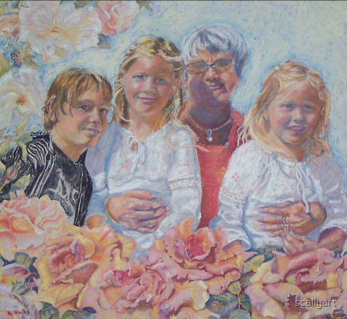 Cook family on Anzac day by scallyart