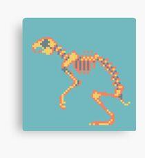Rabbit Pixel Skeleton Canvas Print