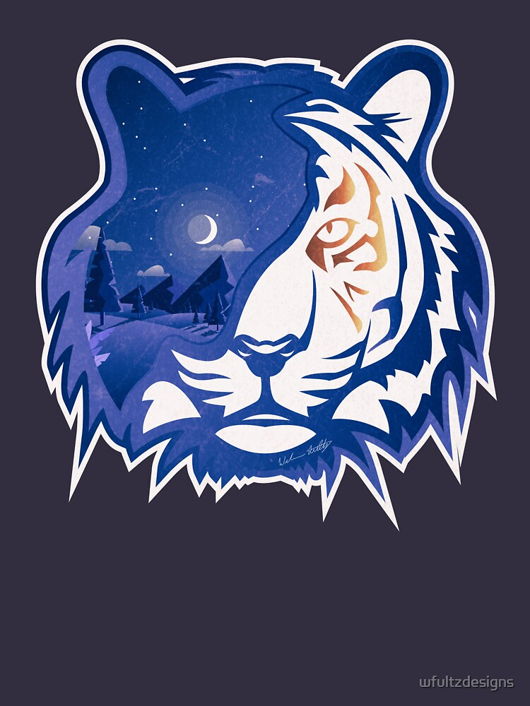 Tiger Head | Crescent Moonlight by wfultzdesigns