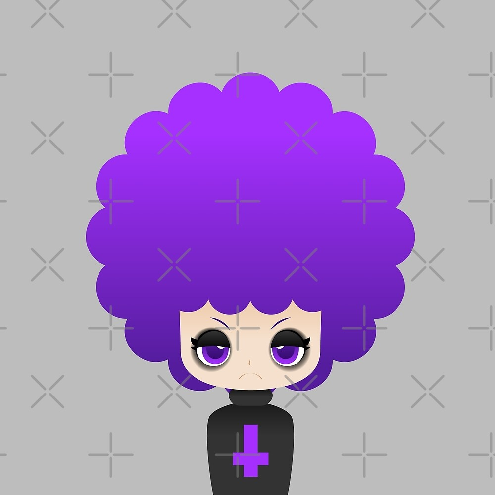 Gothic afro girl by kittybox