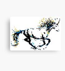 Pixel Unicorn Canvas Print