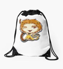 Big Head Chibi Leo Drawstring Bag