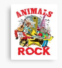 Animals Rock Canvas Print