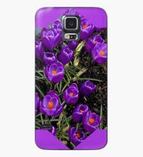 Lila Krokusstern Hülle & Klebefolie für Samsung Galaxy