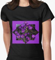 Lila Krokusstern Tailliertes T-Shirt für Frauen