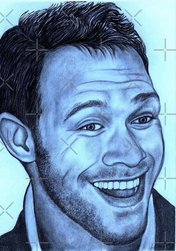 Will Young celebrity portrait by Margaret Sanderson