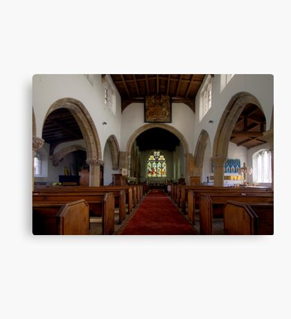 Inside All Saints Misterton Canvas Print