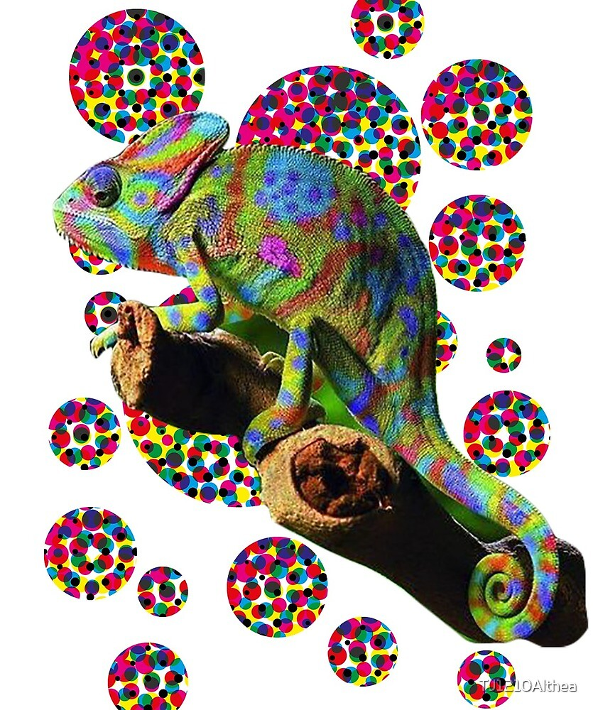Psychedelic chameleon by TJ1210Althea