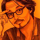 Johnny Depp celebrity portrait by Margaret Sanderson