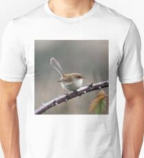 Australian Bird, Female Superb Fairy Wren, Wildlife Bird Photography Unisex T-Shirt
