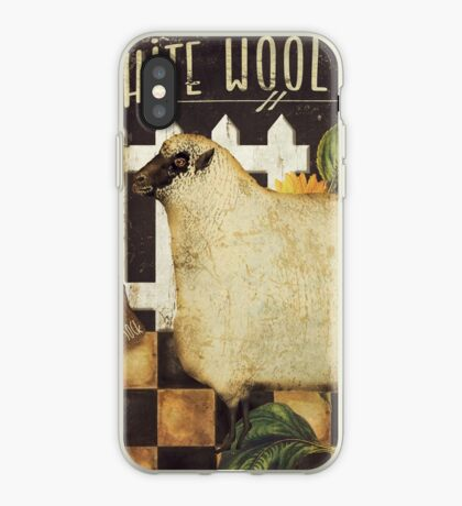 White Wool Vermont Farms II iPhone Case
