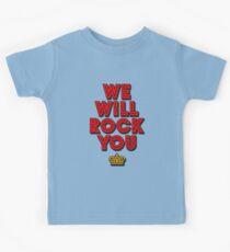 WE WILL ROCK YOU, popart colors digital ART by Iona Art Digital Kids T-Shirt