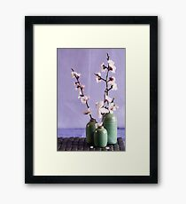 Blossoms and vases Framed Print