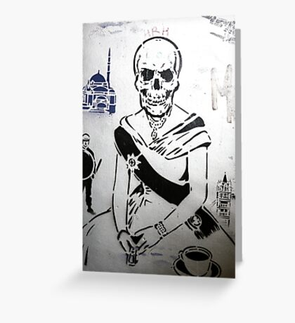 The Queen - Banksy Greeting Card