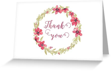 Floral Thank you card by irinatsy