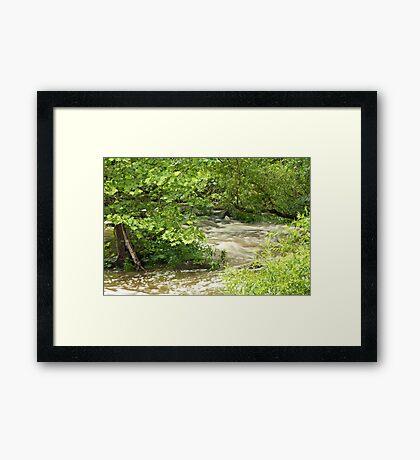 Unami Creek - Green Lane - Pennsylvania - USA Framed Print