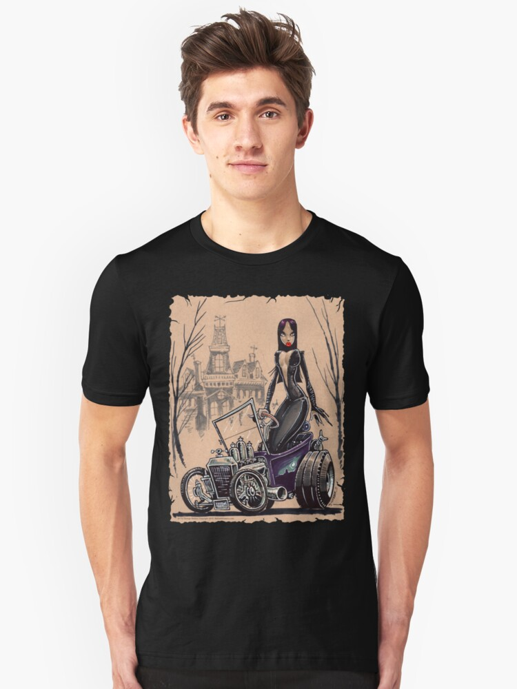 MORTICIA in a T-Bucket Unisex T-Shirt Front