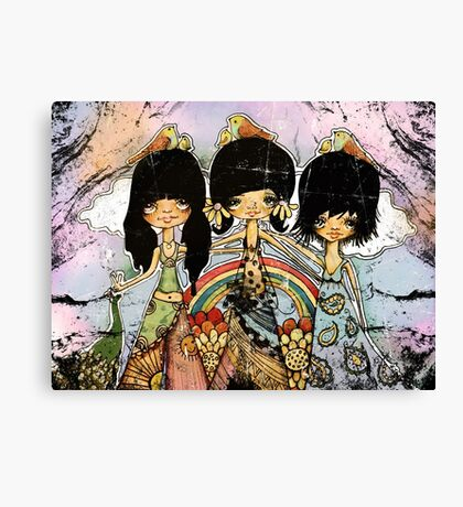 hippy chicks Canvas Print