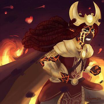 Fire Lady by Wyvern-fins