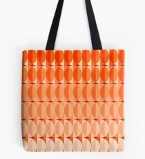 Leaves at sunset - a pattern in orange and red Tote Bag