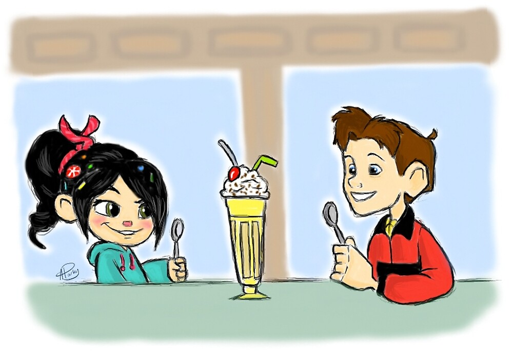 Vanellope and Hogarth by APParky