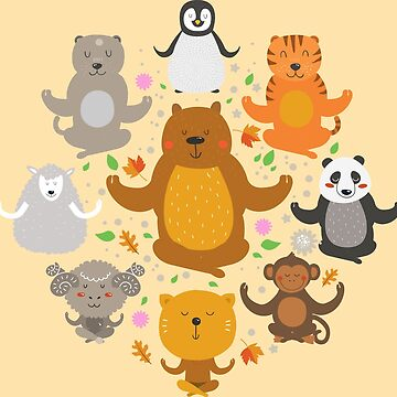 Peaceful Animals by artlahdesigns
