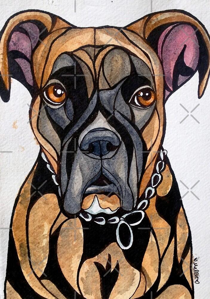 Dog Art #14: Chelsea the Boxer by mellierosetest