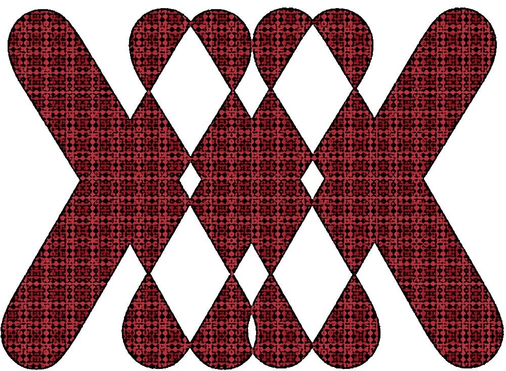 X Pattern Design (Red) by ProjectMayhem
