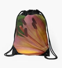 Asiatic lily - my garden Drawstring Bag