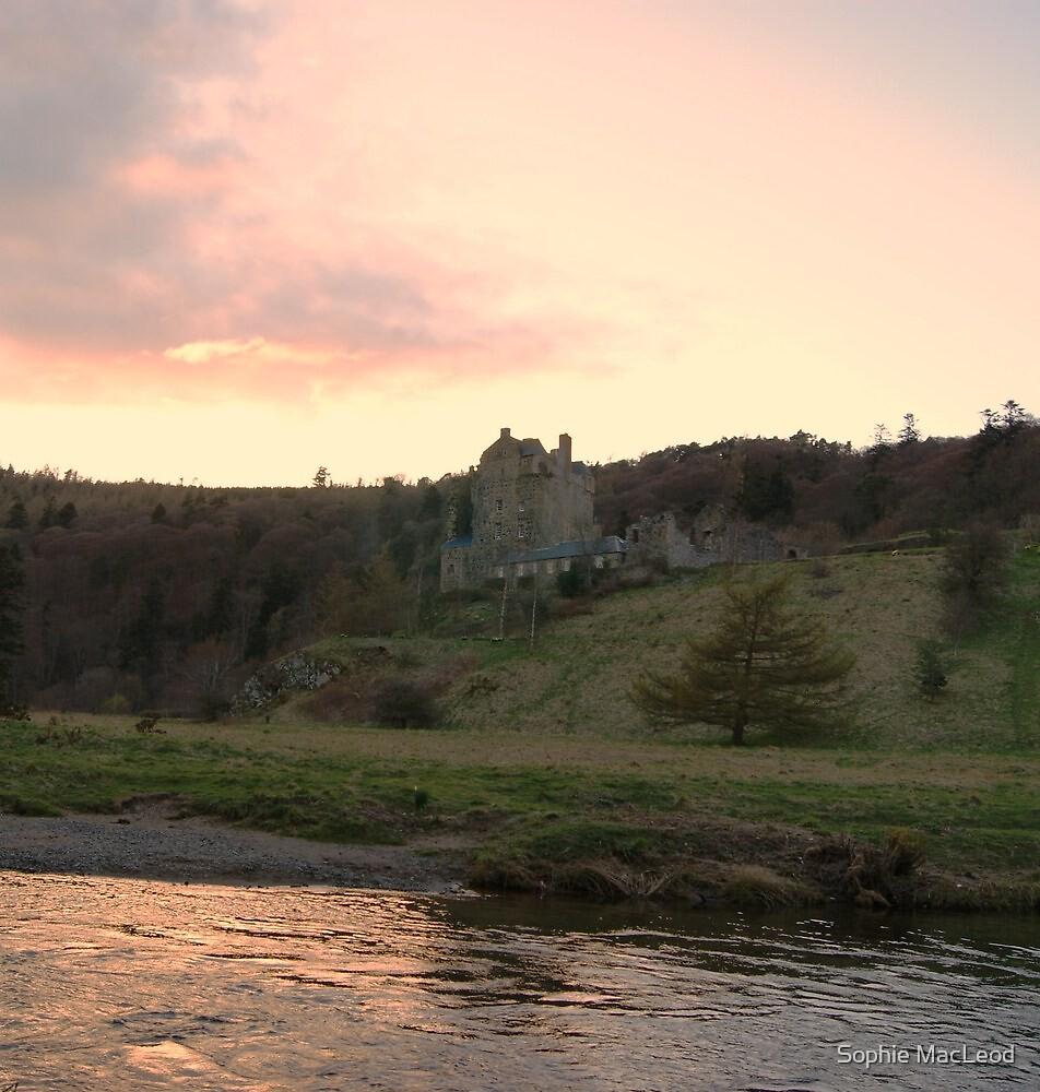Dusk Reflection over Neidpath Castle by Sophie MacLeod