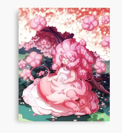 Rose and Lion Canvas Print