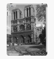 BW France Paris Notre Dame Cathedral 1970s iPad Case/Skin