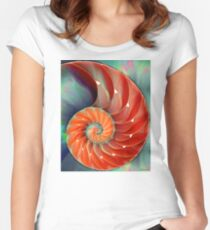 Nautilus Shell - Sea Shells Women's Fitted Scoop T-Shirt