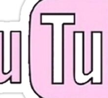 Pink Youtube Sticker