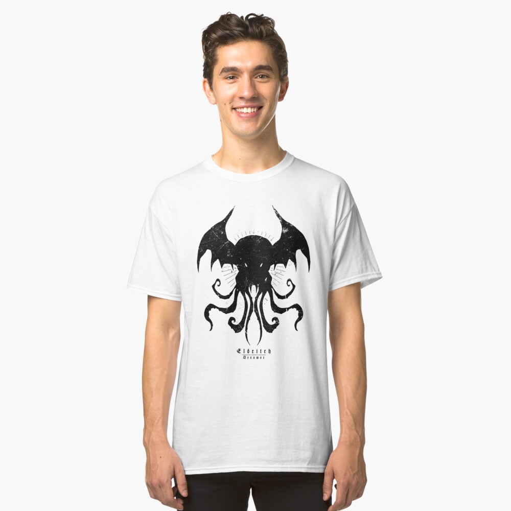 The Call of Cthulhu - White Edition - Eldritch Dreamer - Lovecraftian mythos wear Classic T-Shirt