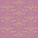 Rococo tapestry - Purple and beige by Ratherswell