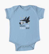 Ninjas are born at night... Baby Body Kurzarm