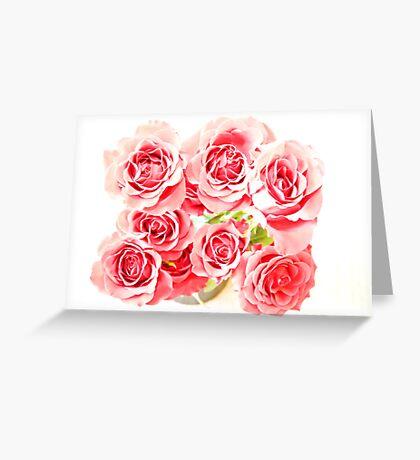 Rose Blooms Greeting Card